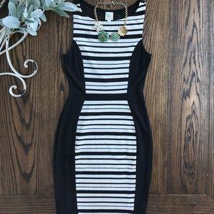 Anthropologie Black + White Bodycon Dress